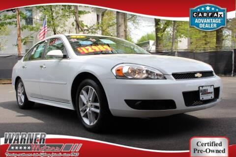2013 Chevrolet Impala for sale at Warner Motors in East Orange NJ