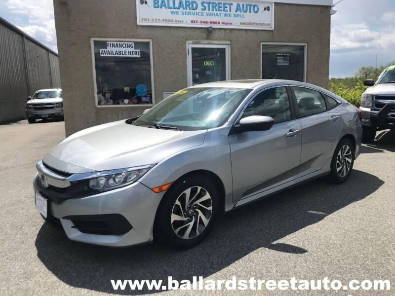 2016 Honda Civic for sale at Ballard Street Auto in Saugus MA