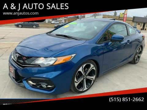 2015 Honda Civic for sale at A & J AUTO SALES in Eagle Grove IA