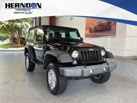 2017 Jeep Wrangler for sale at Herndon Chevrolet in Lexington SC