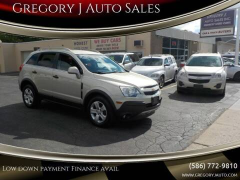2013 Chevrolet Captiva Sport for sale at Gregory J Auto Sales in Roseville MI