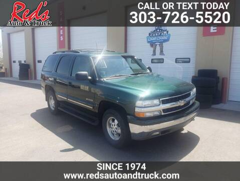 2001 Chevrolet Tahoe for sale at Red's Auto and Truck in Longmont CO