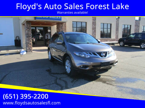 2013 Nissan Murano for sale at Floyd's Auto Sales Forest Lake in Forest Lake MN