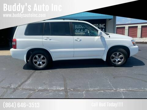 2005 Toyota Highlander for sale at Buddy's Auto Inc in Pendleton SC