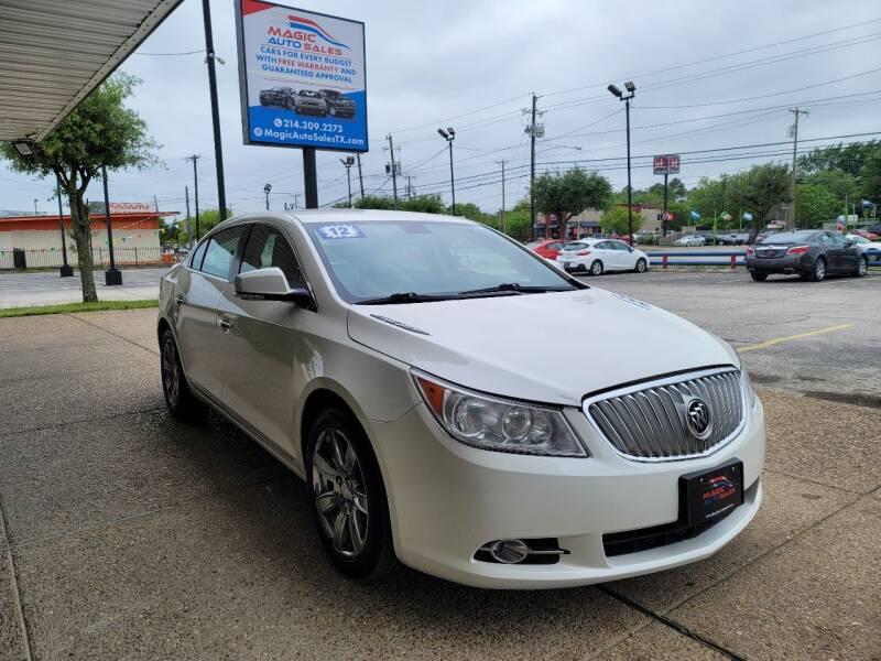 2012 Buick LaCrosse for sale at Magic Auto Sales in Dallas TX