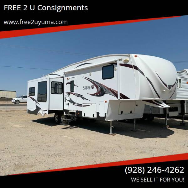 2012 Palomino Sabre for sale at FREE 2 U Consignments in Yuma AZ