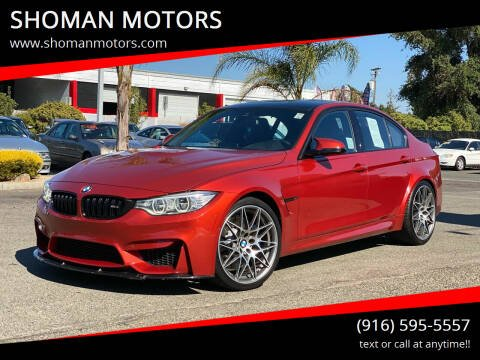 2016 BMW M3 for sale at SHOMAN MOTORS in Davis CA