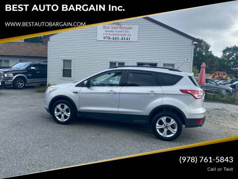 2016 Ford Escape for sale at BEST AUTO BARGAIN inc. in Lowell MA