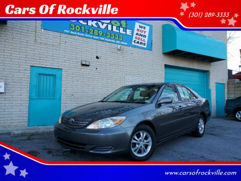 2004 Toyota Camry for sale at Cars Of Rockville in Rockville MD