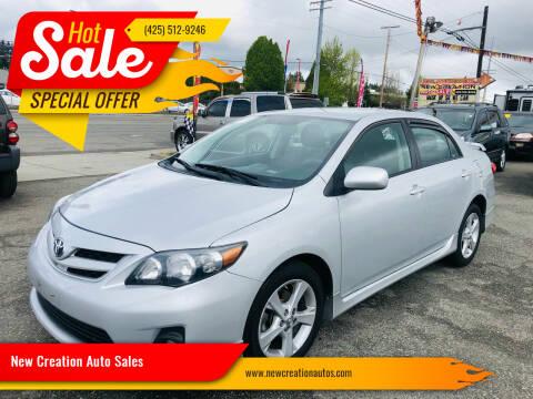 2013 Toyota Corolla for sale at New Creation Auto Sales in Everett WA