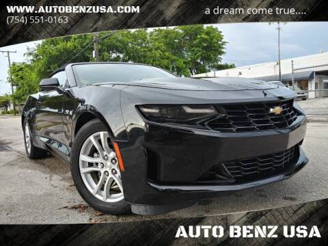 2020 Chevrolet Camaro for sale at AUTO BENZ USA in Fort Lauderdale FL