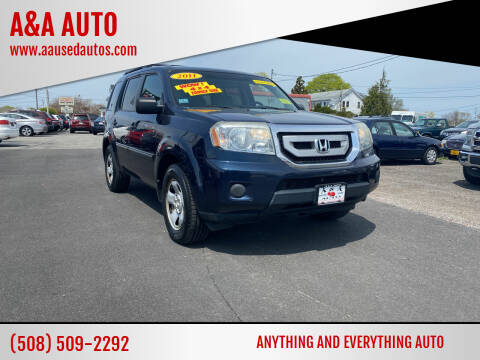 2011 Honda Pilot for sale at A&A AUTO in Fairhaven MA