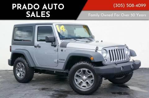 2014 Jeep Wrangler for sale at Prado Auto Sales in Miami FL