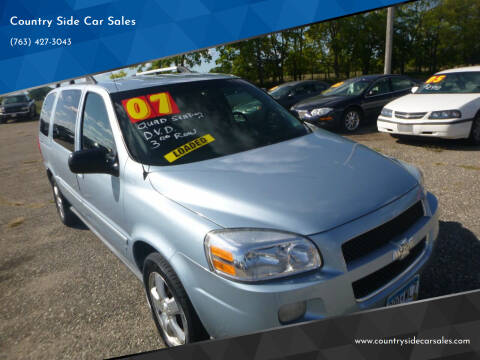2007 Chevrolet Uplander for sale at Country Side Car Sales in Elk River MN