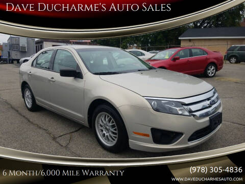 2010 Ford Fusion for sale at Dave Ducharme's Auto Sales in Lowell MA