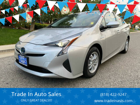 2017 Toyota Prius for sale at Trade In Auto Sales in Van Nuys CA