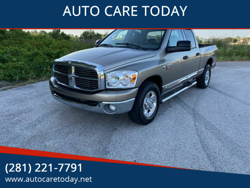 2008 Dodge Ram Pickup 2500 for sale at AUTO CARE TODAY in Spring TX