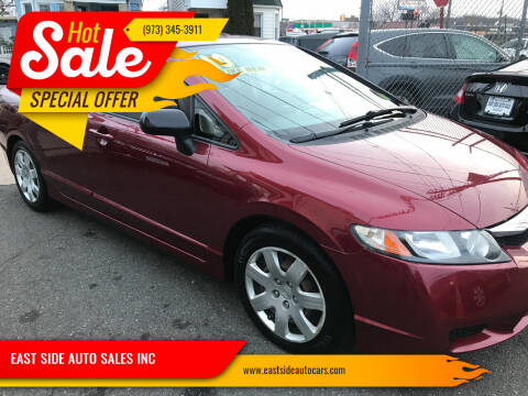 2010 Honda Civic for sale at EAST SIDE AUTO SALES INC in Paterson NJ