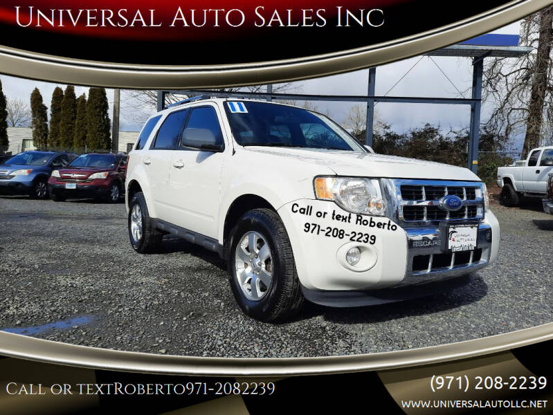 2011 Ford Escape for sale at Universal Auto Sales Inc in Salem OR