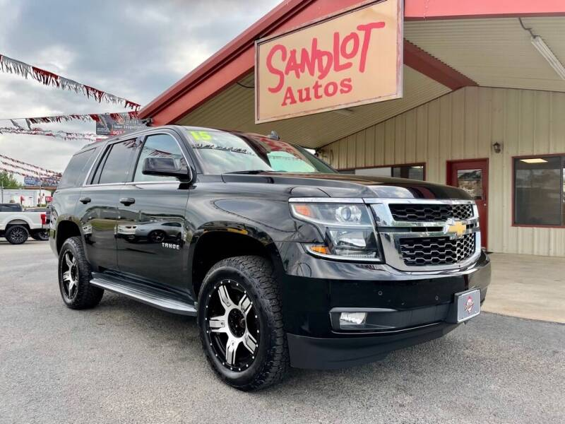 2015 Chevrolet Tahoe for sale at Sandlot Autos in Tyler TX