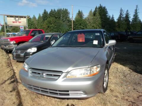 2002 Honda Accord for sale at Sun Auto RV and Marine Sales in Shelton WA