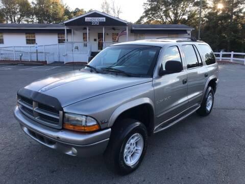 1999 Dodge Durango for sale at CVC AUTO SALES in Durham NC