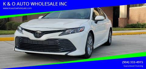 2019 Toyota Camry for sale at K & O AUTO WHOLESALE INC in Jacksonville FL