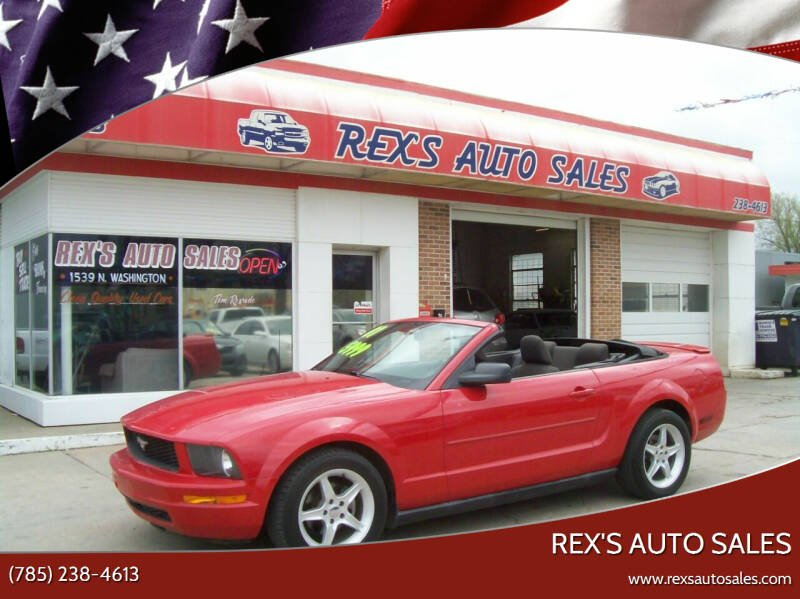 2007 Ford Mustang for sale at Rex's Auto Sales in Junction City KS