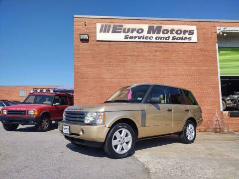 2004 Land Rover Range Rover for sale at Euro Motors LLC in Raleigh NC