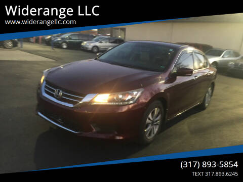 2014 Honda Accord for sale at Widerange LLC in Greenwood IN