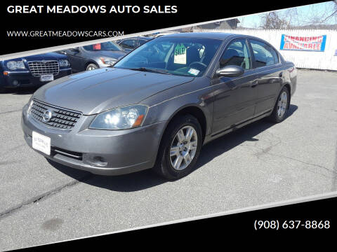 2006 Nissan Altima for sale at GREAT MEADOWS AUTO SALES in Great Meadows NJ