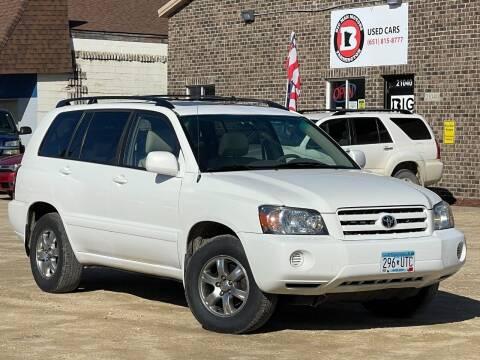 2004 Toyota Highlander for sale at Big Man Motors in Farmington MN