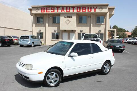 2001 Volkswagen Cabrio for sale at Best Auto Buy in Las Vegas NV
