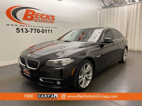 2015 BMW 5 Series for sale at Becks Auto Group in Mason OH