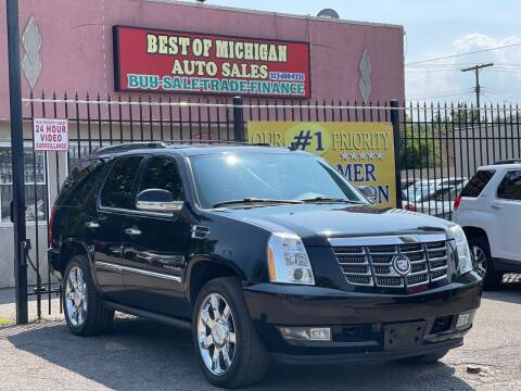 2011 Cadillac Escalade for sale at Best of Michigan Auto Sales in Detroit MI