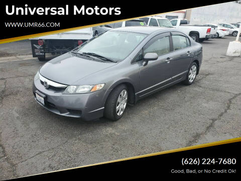 2010 Honda Civic for sale at Universal Motors in Glendora CA