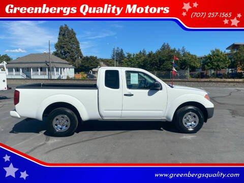 2017 Nissan Frontier for sale at Greenbergs Quality Motors in Napa CA