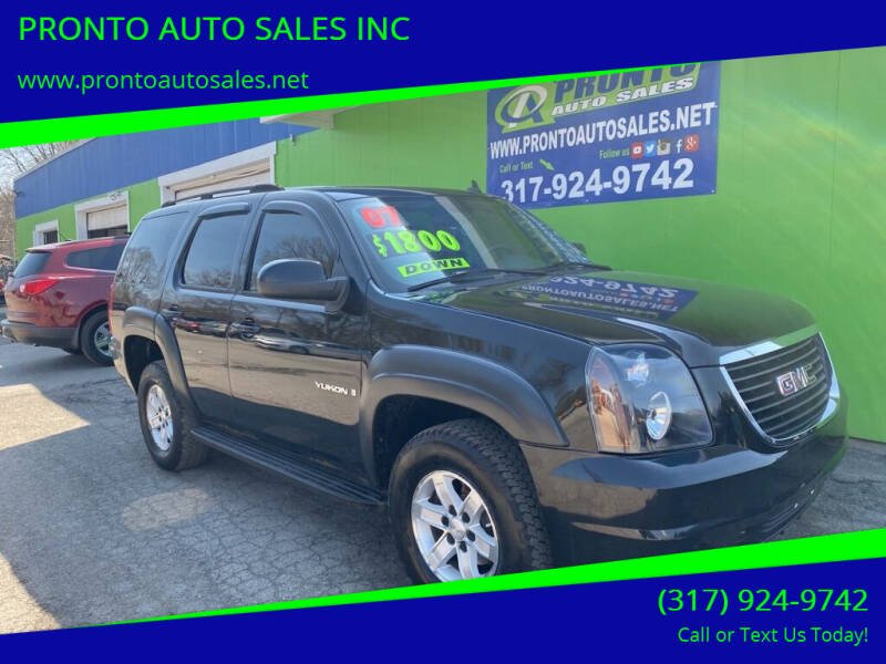 2007 GMC Yukon for sale at PRONTO AUTO SALES INC in Indianapolis IN