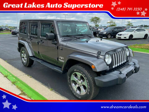 2016 Jeep Wrangler Unlimited for sale at Great Lakes Auto Superstore in Waterford Township MI
