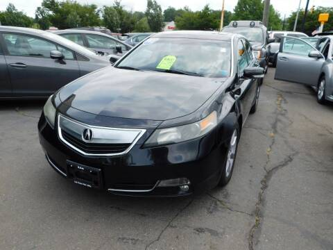 2013 Acura TL for sale at CAR CORNER RETAIL SALES in Manchester CT