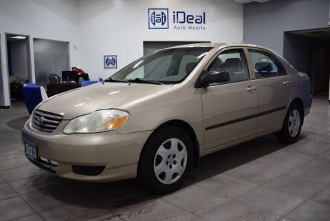 2004 Toyota Corolla for sale at iDeal Auto Imports in Eden Prairie MN