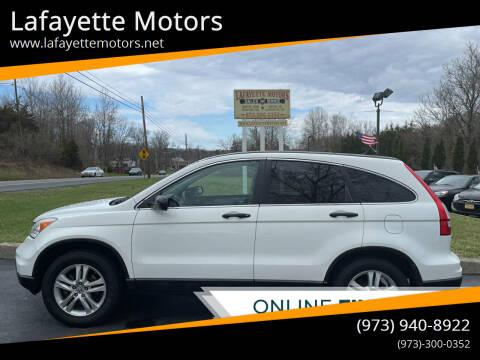 2011 Honda CR-V for sale at Lafayette Motors 2 in Andover NJ