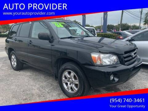 2006 Toyota Highlander for sale at AUTO PROVIDER in Fort Lauderdale FL