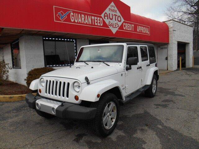 2012 Jeep Wrangler Unlimited for sale at Oak Park Auto Sales in Oak Park MI
