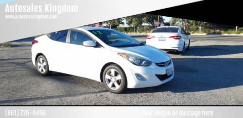 2012 Hyundai Elantra for sale at Autosales Kingdom in Lancaster CA