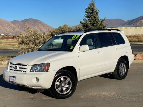 2007 Toyota Highlander for sale at Evolution Auto Sales LLC in Springville UT