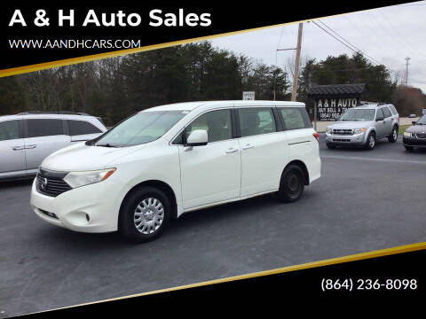 2013 Nissan Quest for sale at A & H Auto Sales in Greenville SC