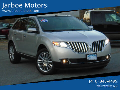 2013 Lincoln MKX for sale at Jarboe Motors in Westminster MD