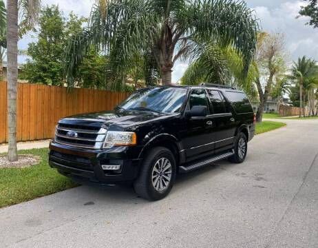 2017 Ford Expedition EL for sale at Venmotors Hollywood in Hollywood FL
