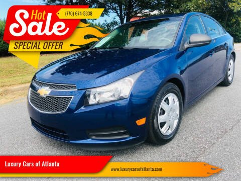 2012 Chevrolet Cruze for sale at Luxury Cars of Atlanta in Snellville GA